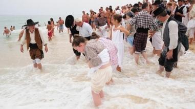 Tradicionais banhos de São Romão recriados até sábado em Santo André