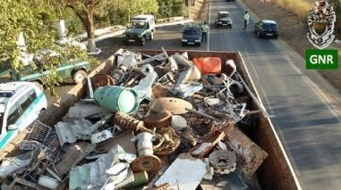GNR recupera material furtado em operação perto de Moura