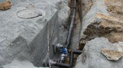 Obras na rede de água de
