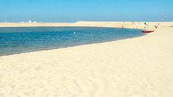 Obras na praia da Costa