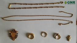 Peças de ouro roubadas