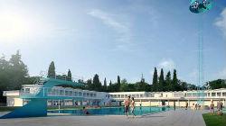 Obras nas piscinas