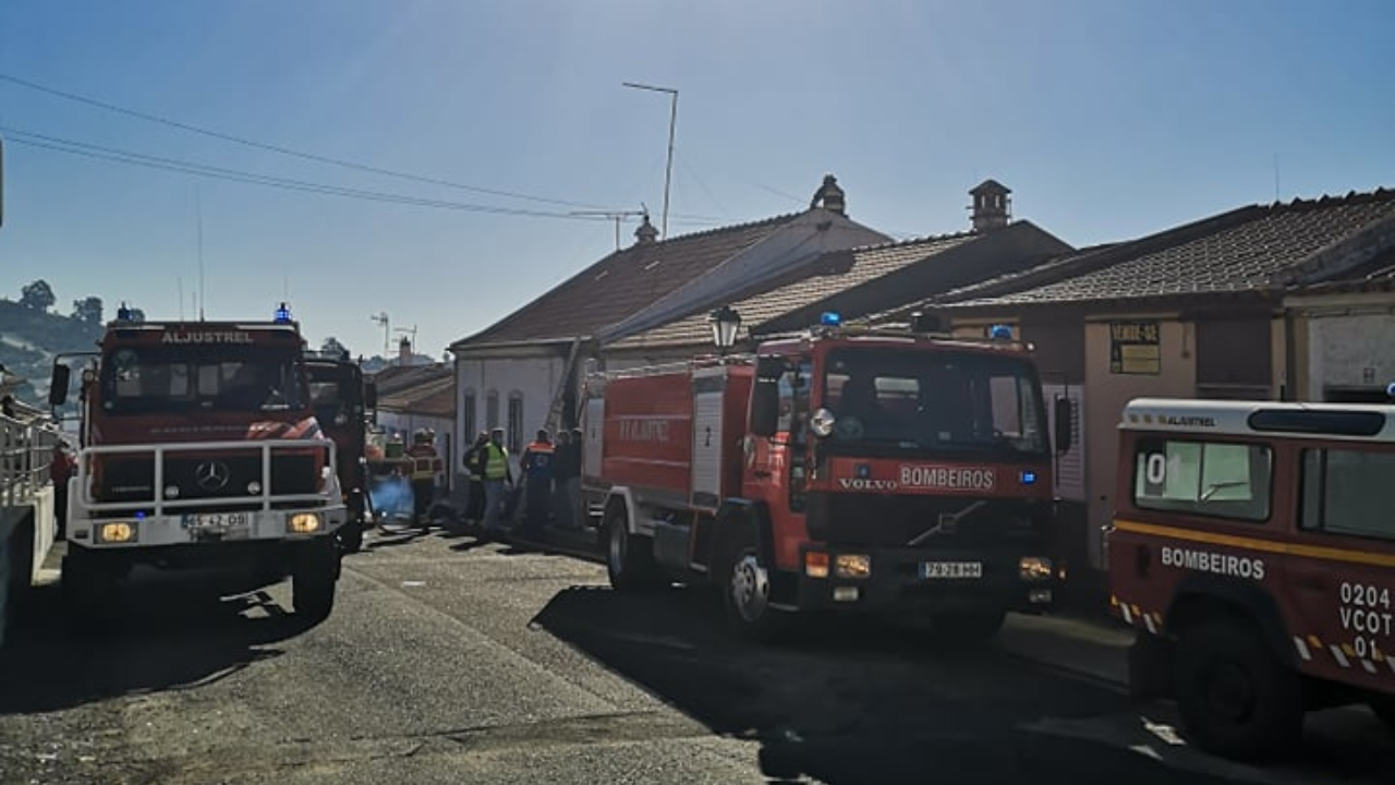 Incêndio deixa família desalojada em Aljustrel