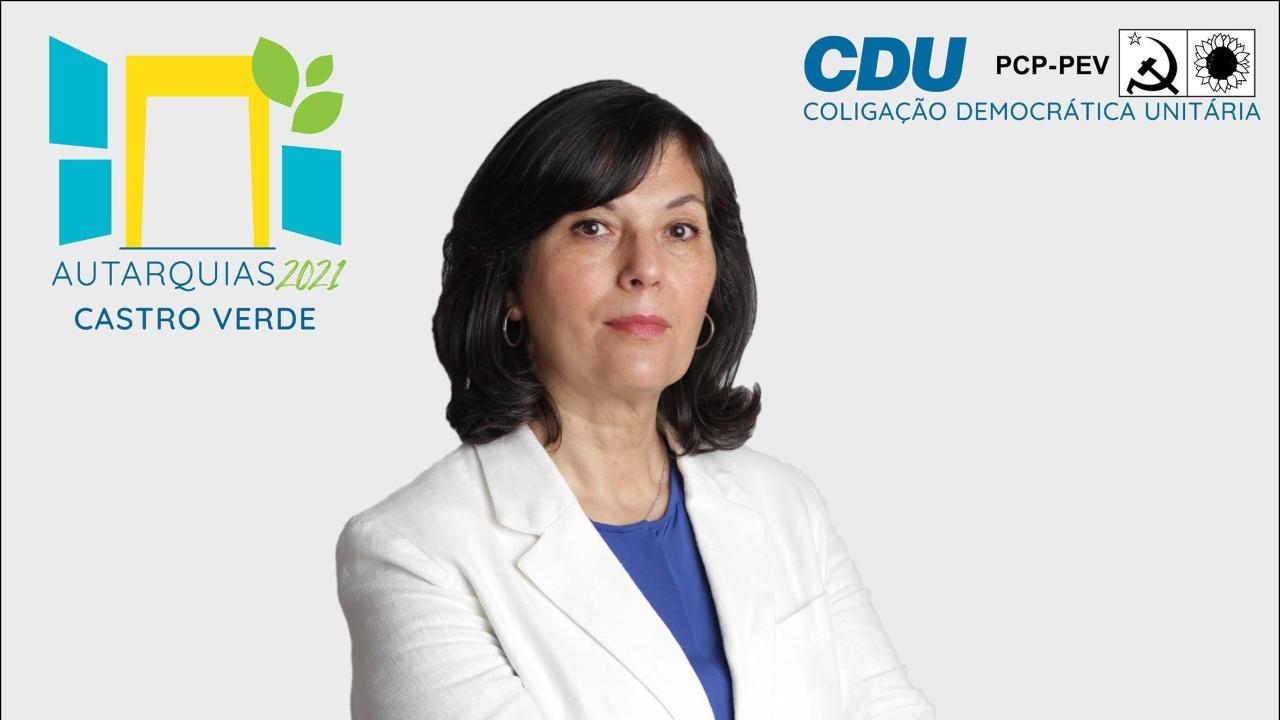 CDU candidata Fátima Silva à Câmara de Castro Verde