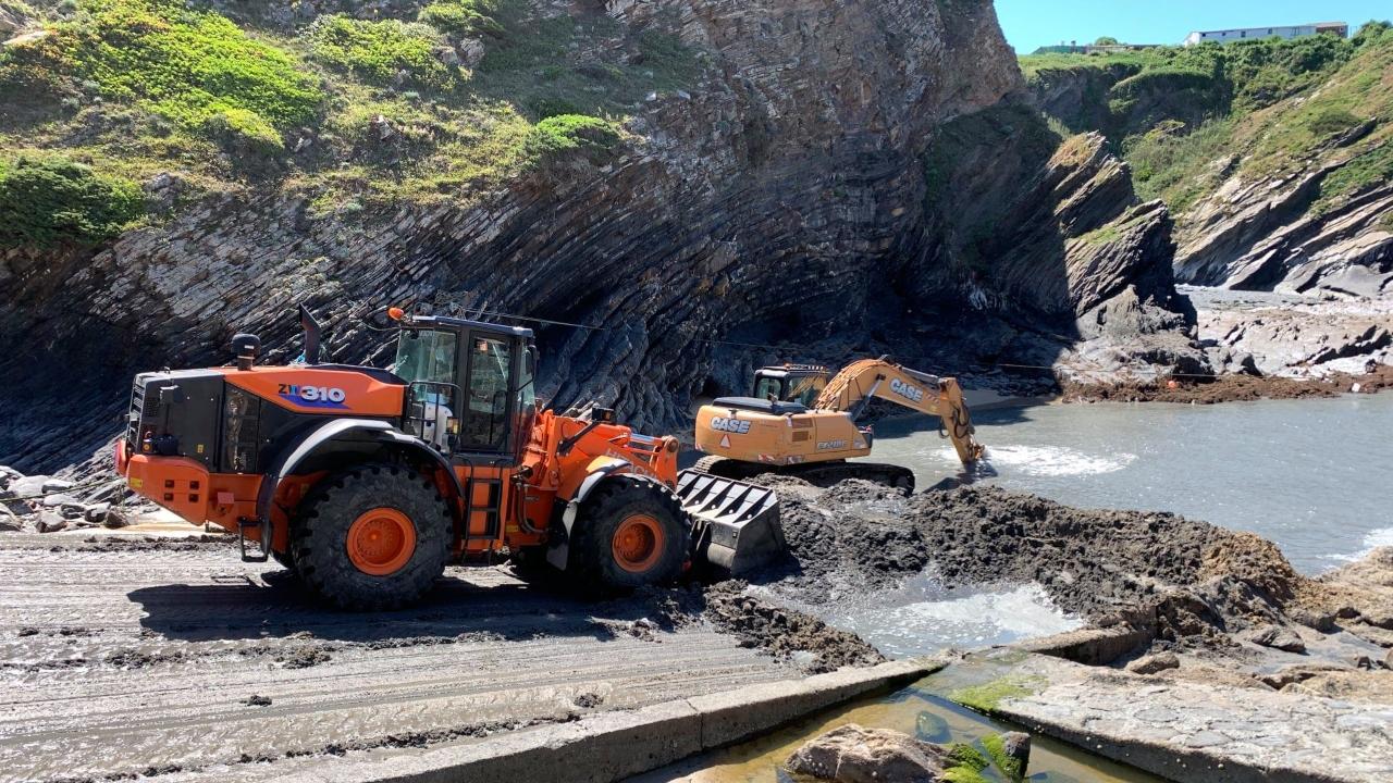Obras nos portinhos de pesca de Odemira