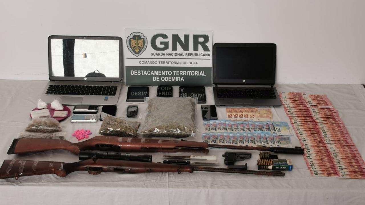 Três detidos por tráfico de droga em Odemira